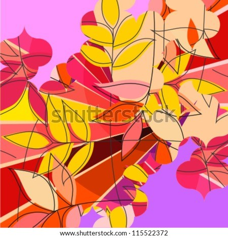 Colorful branches background (vector version)