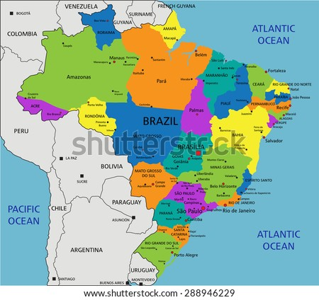 Labeled Map Of Spain.Colorful Spain Map With Regions And Stock Photo 36055111 Avopix Com