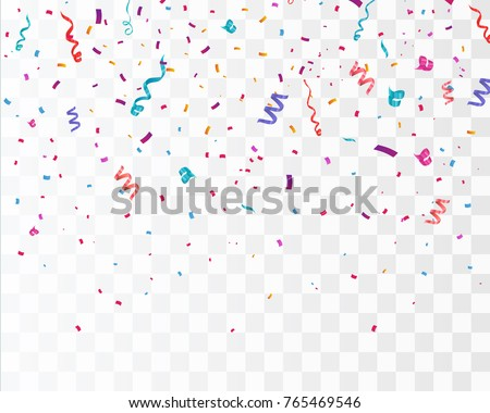 colorful bright confetti