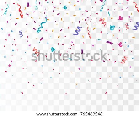 colorful bright confetti