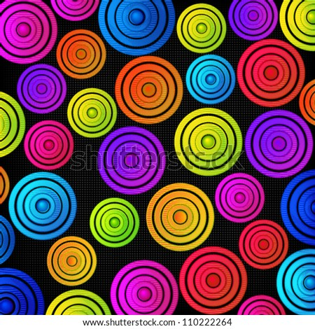 Colorful bright disks background.