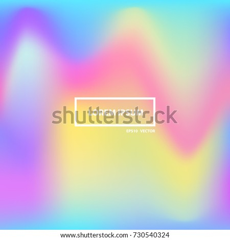 Colorful bright holographic backgrounds.Vibrant  Holographic Textures. Modern backgrounds for design. Vector illustration