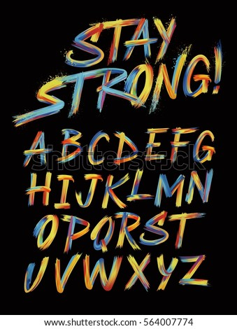 Colorful Brush Alphabet