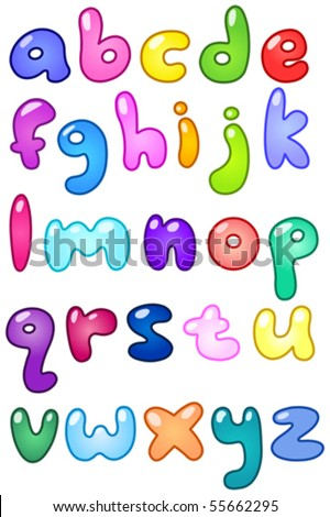 stock-vector-colorful-bubble-shaped-small-letters-set-55662295 Old English Letters Template Letter O on best cover, sample recommendation,