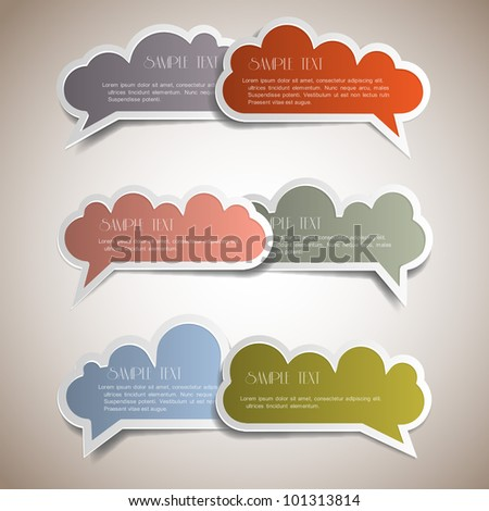 Colorful bubbles for speech. Vector set