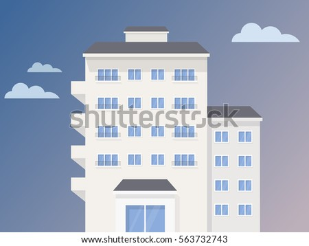 Colorful building illustration.