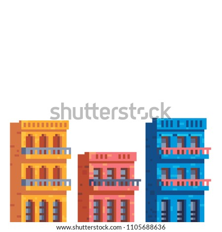 colorful buildings houses in