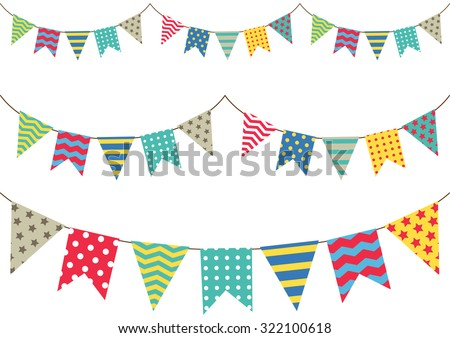 colorful bunting flag Foto stock ©