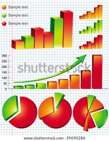 colorful business graphs