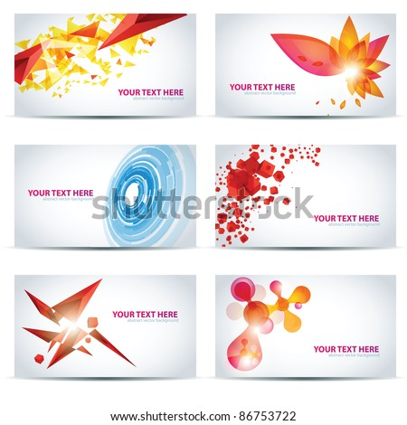 Colorful businesscard templates