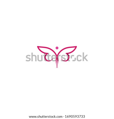 colorful butterfly logo ideas