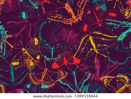colorful butterfly texture