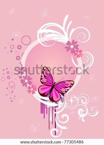 colorful butterfly - vector