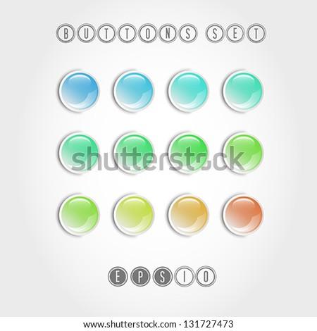 colorful button set, button concept