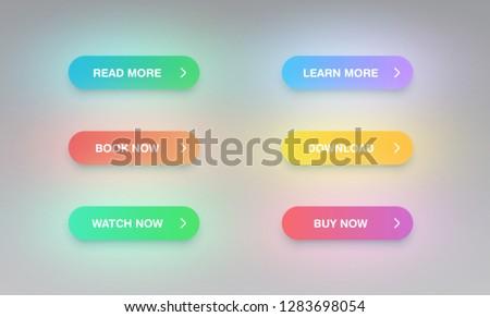 Colorful button set for websites or online usage, vector illustration #1283698054