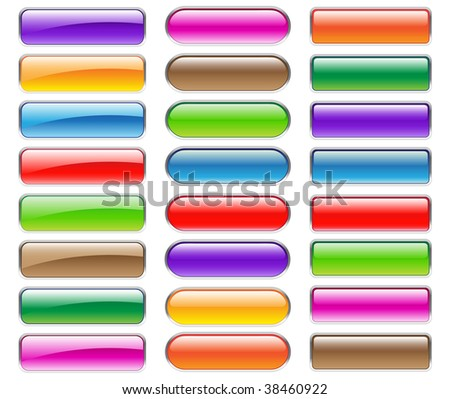 colorful buttons for your website