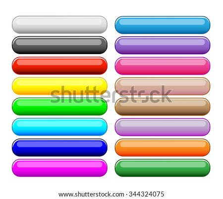 Colorful buttons set
