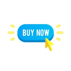 Colorful buy now button. Design elements for mobile and web applications. Buy now button in stylish colors for your web shop. Buy now button vector illustration. Buy now button eps10.