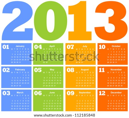 colorful calendar. vector illustration