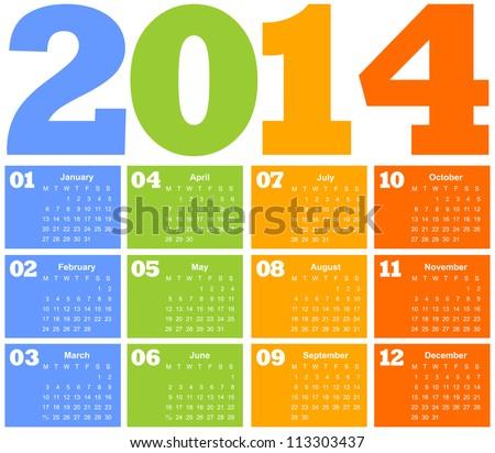 colorful calendar. vector illustration