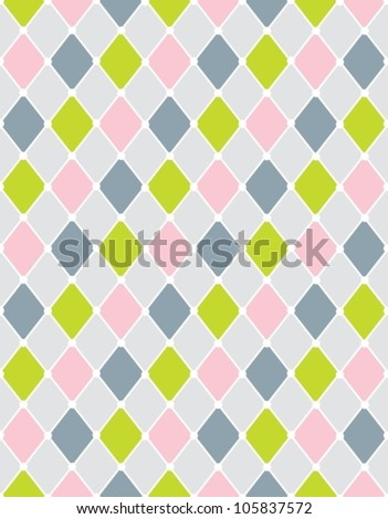 Colorful calm Rhombus. Seamless pattern,background vector illustration