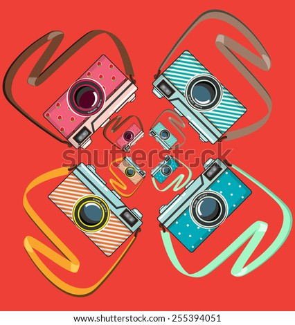 colorful camera pop art style