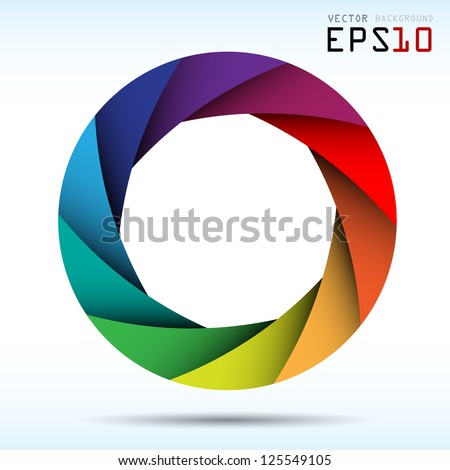 Colorful camera shutter background Illustra tion eps10