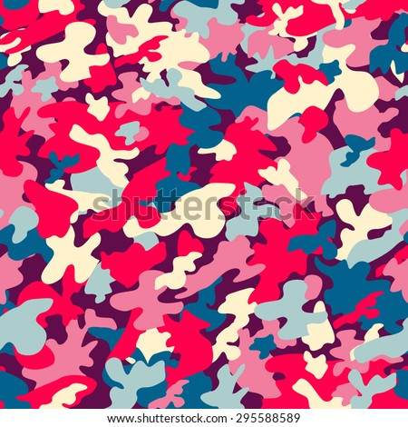 colorful camouflage seamless