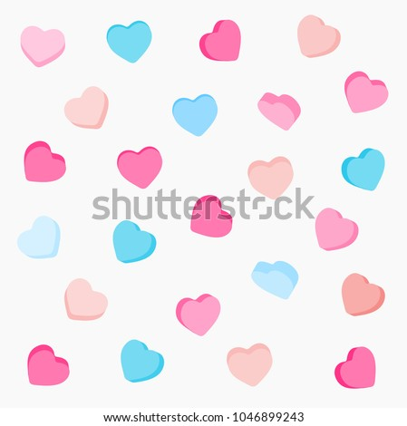 colorful candy hearts pattern