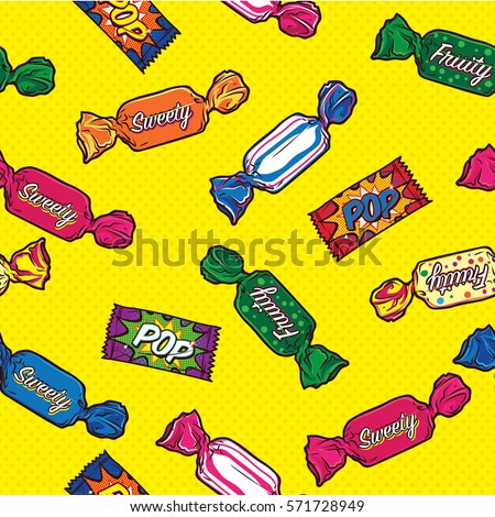 Colorful Candy Seamless Pattern