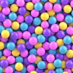 Colorful candy sweet gumballs vector background.