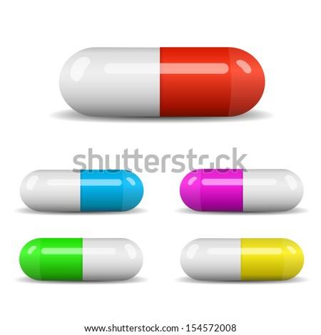 Colorful capsules set