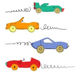 colorful car race