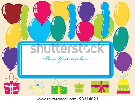 colorful card  design  for congratulations of happy birthday