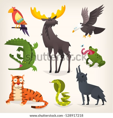 colorful cartoon animals from