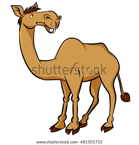 colorful cartoon camel on white
