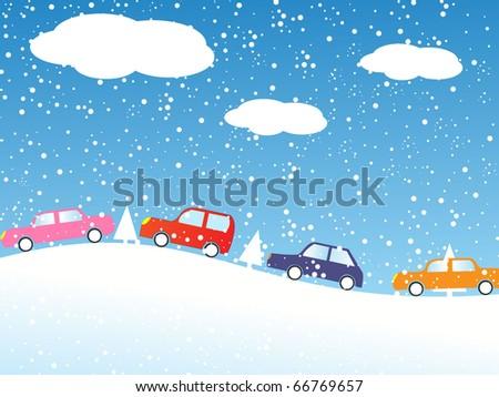 colorful cartoon cars vector