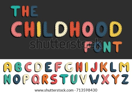 colorful cartoon funny font