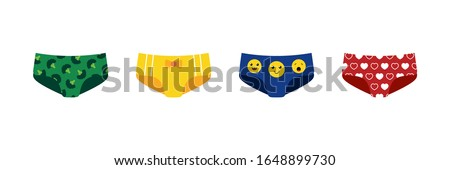 colorful cartoon style panties