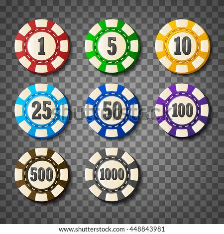 colorful casino chips on