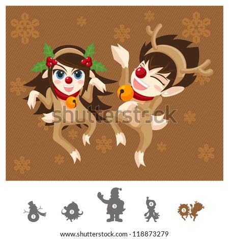 Colorful Characters Christmas : Reindeers Dance