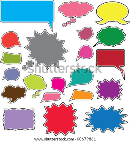 colorful chat signs. vector. see more signs in my portfolio