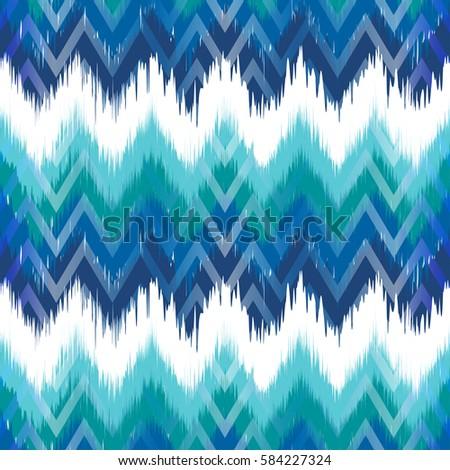 Colorful chevron ornament tradition stylish ornament Zig zag ikat seamless pattern