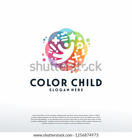 colorful child reaching star