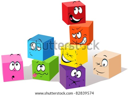 colorful childish cubes