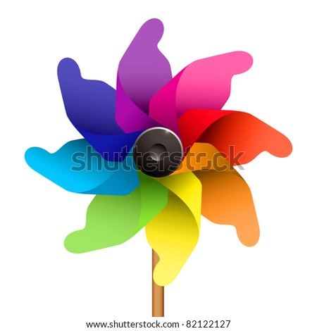 Colorful childs windmill or pinwheel