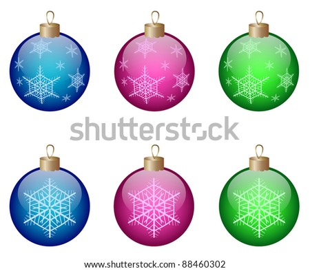 Colorful christmas balls isolated on a white background. Vector illustration. eps10