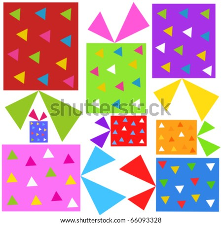 Colorful Christmas presents background. Vector illustration