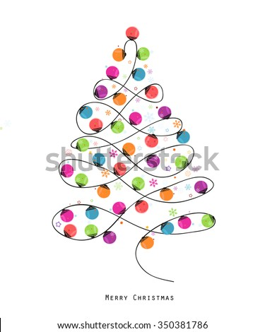colorful christmas tree made of