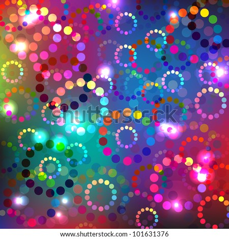 colorful circle background with lights